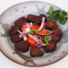 Venison Steaks in burgundy wine marinade